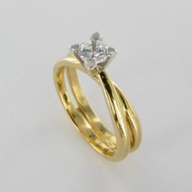 Bague Solitaire Or & Diamant Diamant 0.30 Carat