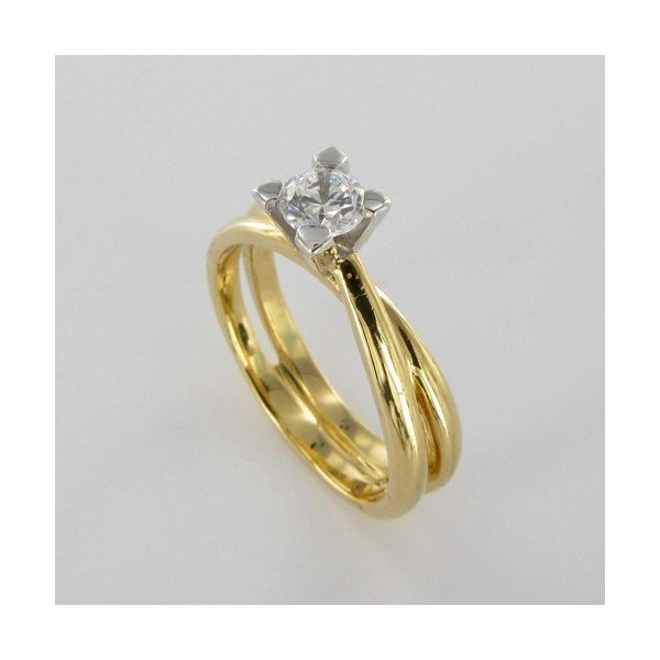 Bague Solitaire Or & Diamant   Diamant 0.30 Carat