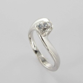 Bague Solitaire Or & Diamant Diamant 0.45 Carat