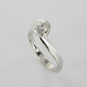 Bague Solitaire Or & Diamant Diamant 0.35 Carat