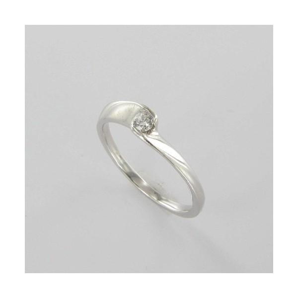 Bague Solitaire Or & Diamant   Diamant 0.08 Carat