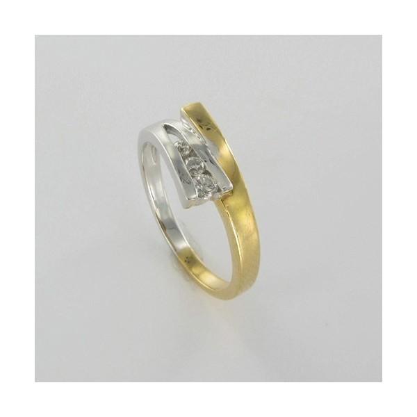 Bague Solitaire Or & Diamant   Diamant 0.12 Carat