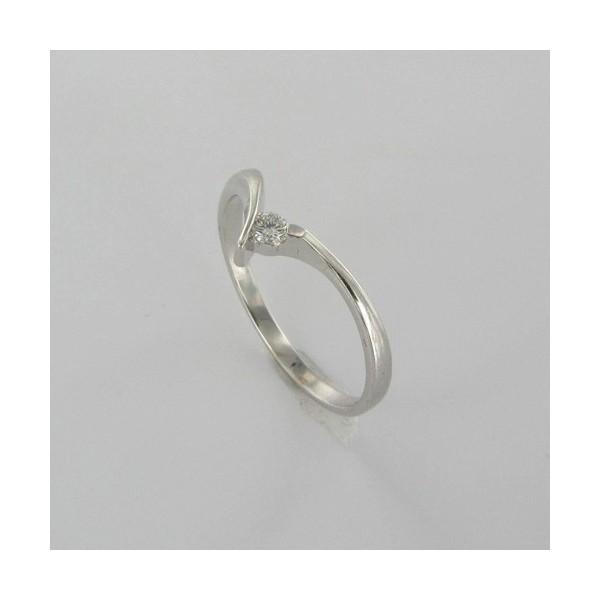 Bague Solitaire Or & Diamant   Diamant 0.06 Carat