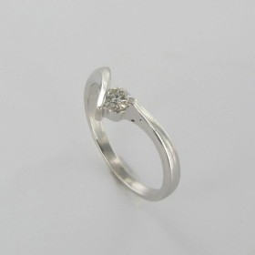Bague Solitaire Or & Diamant Diamant 0.11 Carat
