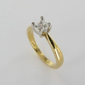 Bague Solitaire Or & Diamant Diamant 0.50 Carat