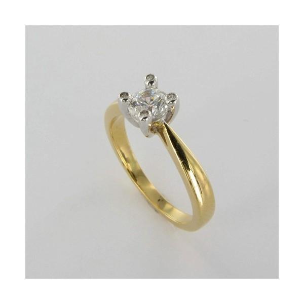 Bague Solitaire Or & Diamant   Diamant 0.50 Carat