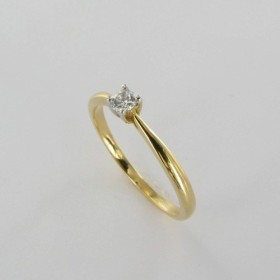 Bague Solitaire Or & Diamant Diamant 0.10 Carat