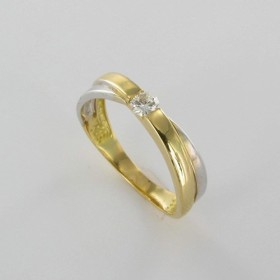 Bague Solitaire Or & Diamant Diamant 0.13 Carat