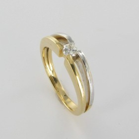 Bague Solitaire Or & Diamant Diamant 0.14 Carat