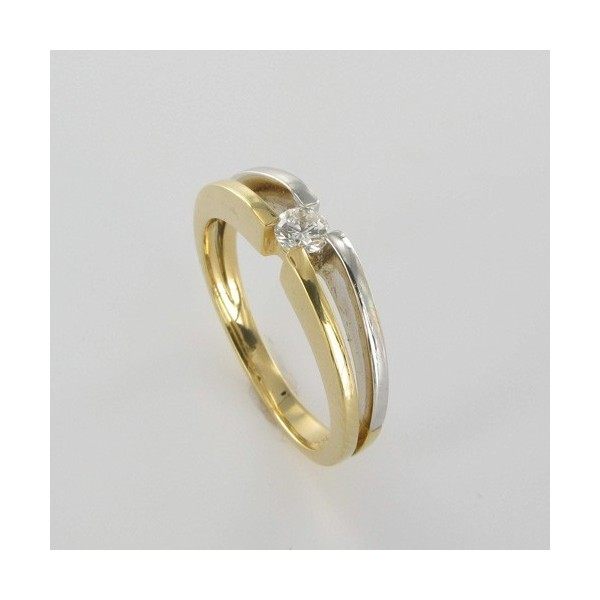Bague Solitaire Or & Diamant   Diamant 0.14 Carat