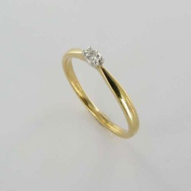 Bague Solitaire Or & Diamant   Diamant 0.08 Carat