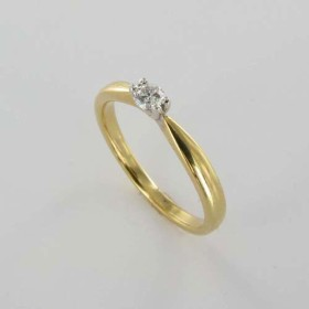 Bague Solitaire Or & Diamant Diamant 0.12 Carat