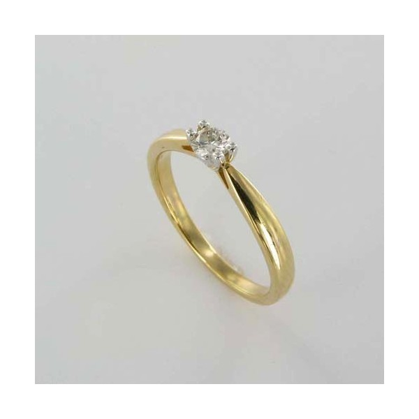 Bague Solitaire Or & Diamant   Diamant 0.16 Carat