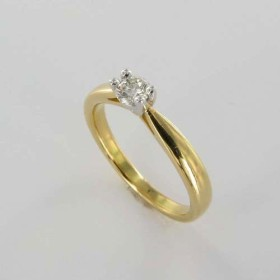 Bague Solitaire Or & Diamant Diamant 0.25 Carat