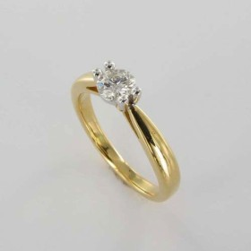Bague Solitaire Or & Diamant Diamant 0.40 Carat