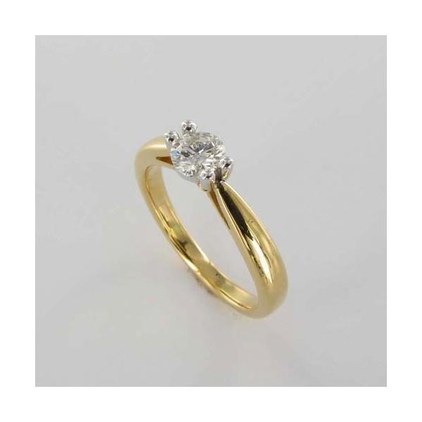 Bague Solitaire Or & Diamant   Diamant 0.40 Carat
