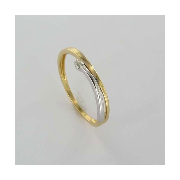 Bague Solitaire Or & Diamant Diamant 0.025 Carat