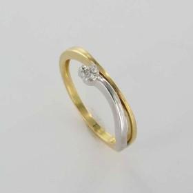 Bague Solitaire Or & Diamant Diamant 0.09 Carat