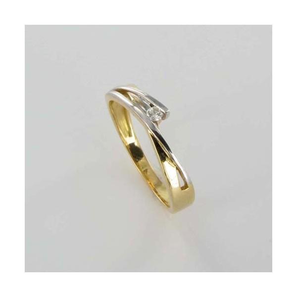 Bague Solitaire Or & Diamant   Diamant 0.04 Carat