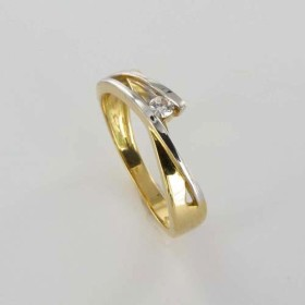 Bague Solitaire Or & Diamant Diamant 0.07 Carat