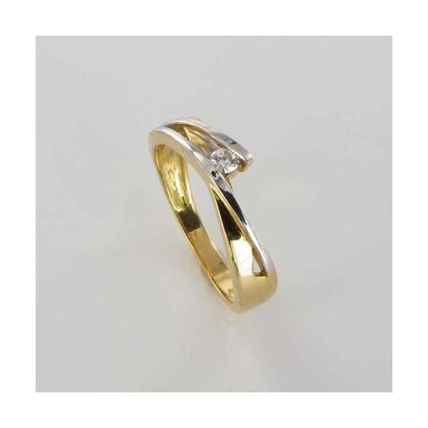 Bague Solitaire Or & Diamant   Diamant 0.07 Carat