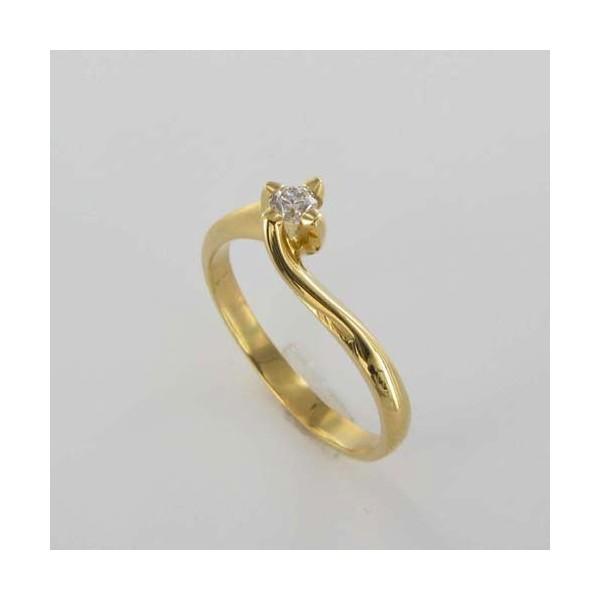 Bague Solitaire Or & Diamant   Diamant 0.10 Carat