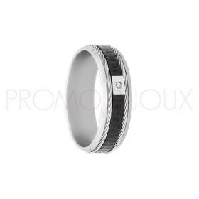 Bague Jourdan Hommes - Acier, Kevlar, Cable & Diamant DK 326 H