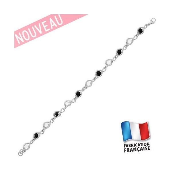Bracelet Charles Jourdan Argent et cristal/onyx