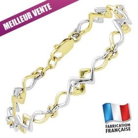 Bracelet Jourdan Plaqué Or semi-rigide