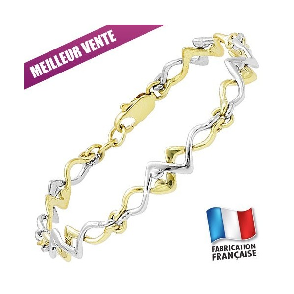 Bracelet Jourdan Plaqué Or semi-rigide