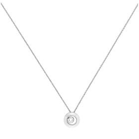 Collier Argent et Cercle Céramique Blanche