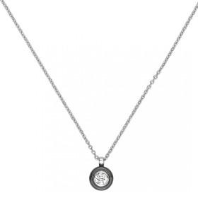 Collier Argent, Cercle Ceramique Noire et oxydes de zirconium