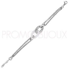 Bracelet Céramique Blanche