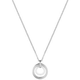 Collier acier et Cercle Ceramique Blanche