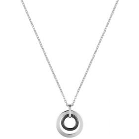Collier acier et Cercle Ceramique Noire