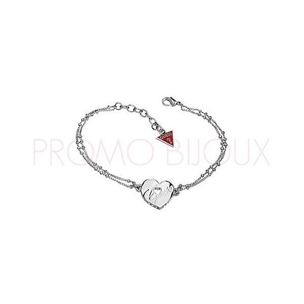 Bracelet Guess Métal Argenté Coeur