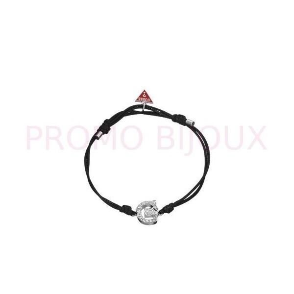 Bracelet Guess Cordon Noir - Logo G