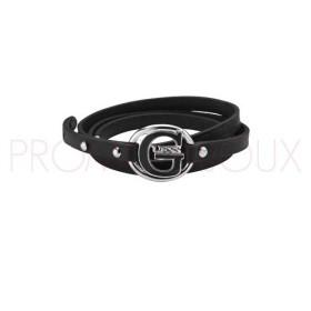 Bracelet Guess G Pop en Cuir Noir Petit modèle