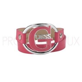 Bracelet Guess G Pop en Cuir Rose Grand modèle