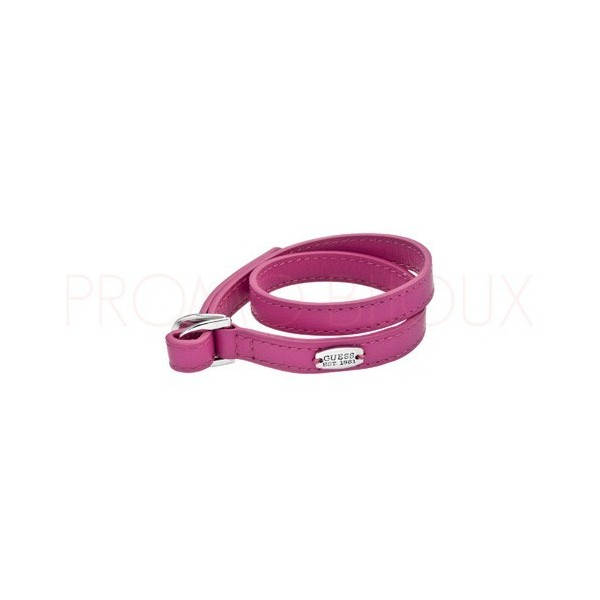 Bracelet Guess Color Chic en Cuir Rose