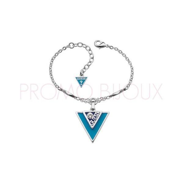 Bracelet Guess Iconically Argenté & Turquoise