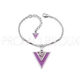 Bracelet Guess Iconically Argenté & Violet