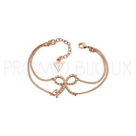 Bracelet Guess double chaîne noeud Métal doré rose