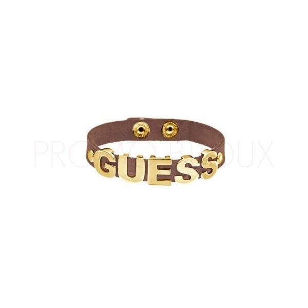 Bracelet Guess Cuir marron - Per-suede me