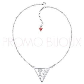 Collier Guess Iconically Triangle Métal Argenté Grande modèle
