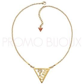 Collier Guess Iconically Triangle Métal doré Grand modèle