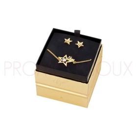 Box Bracelet & Boucles Guess doré - Star Struck