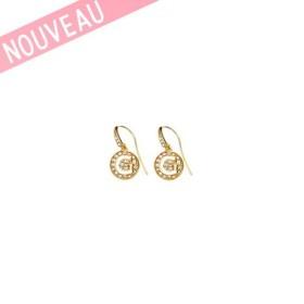 Boucles D'oreilles Guess Métal doré Logo G - G Girl