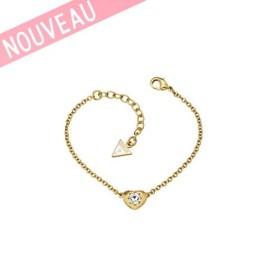 Bracelet Guess Mini-coeur Métal doré - Crystals Of Love