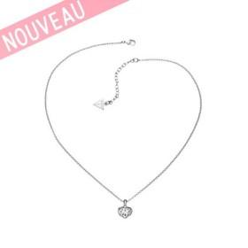 Collier Guess Coeur Métal Argenté - Crystals of love